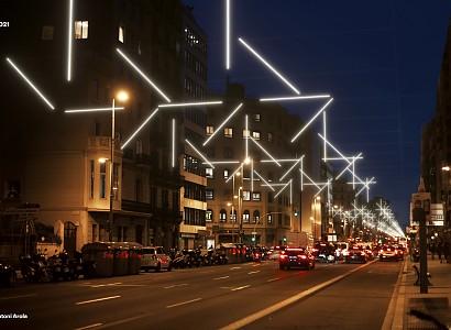 Barcelona presenta las luces de navidad en plena primavera