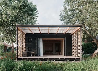 Attila, una cabaña de inspiración nómada