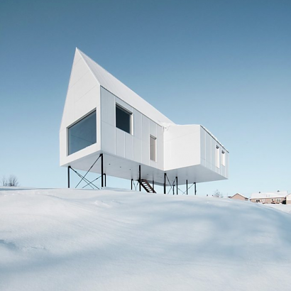 High House, una cabaña entre la nieve