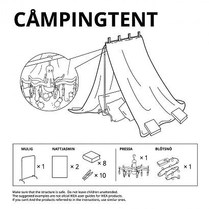Instrucciones de Ikea para construir cabañas